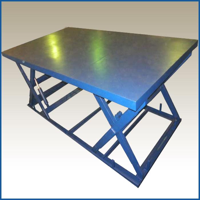 подъемный стол с двумя горизонтальными парами ножниц