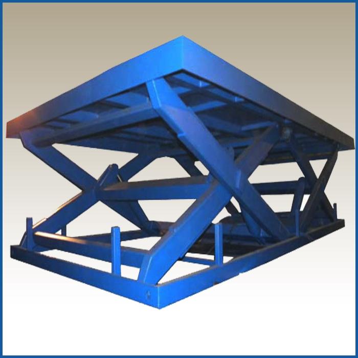 Подъемный стол с двумя горизонтальными ножницами
