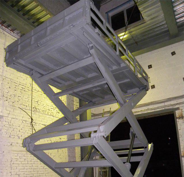 стол подъемный гидравлический на 1000 кг
