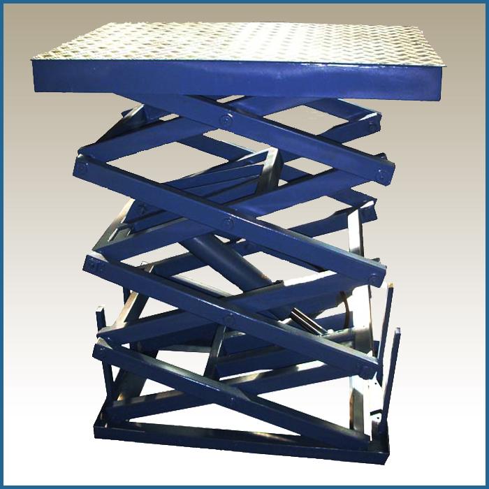 Четырехножничный подъемный стол