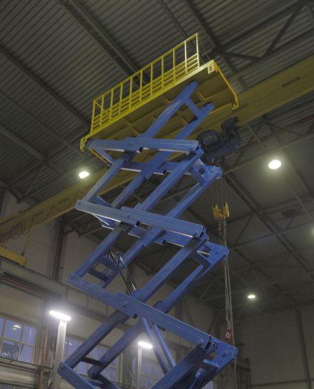 стол подъемный гидравлический на 10 000 кг