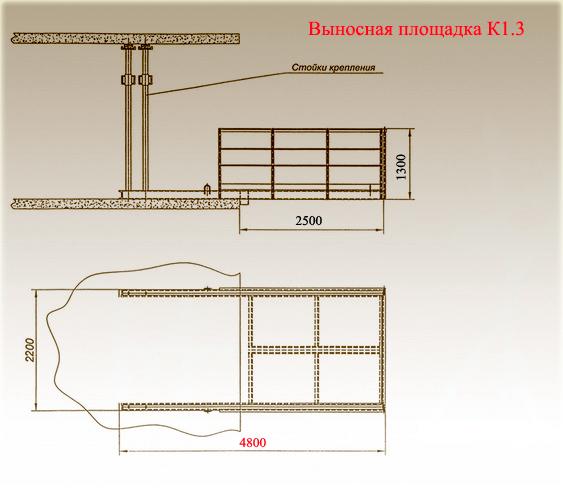 Схема - выносная площадка К1.3
