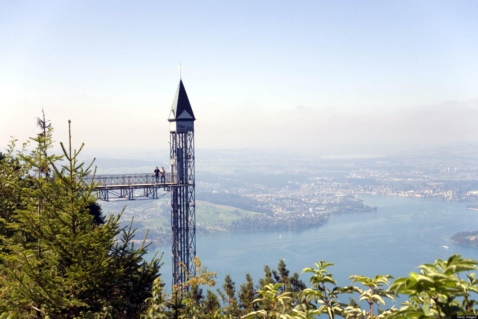 Лифт Хамметшванд Швейцария, город Бургеншток