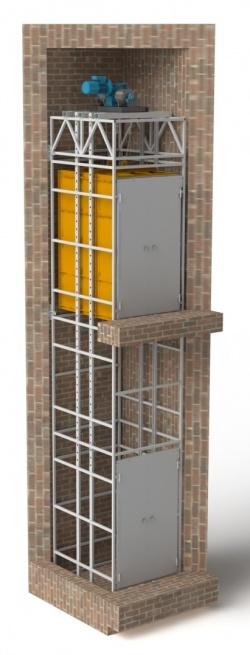 грузопассажирский подъемник в готовую лифтовую шахту