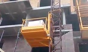 Грузовой строительный подъемник пмг