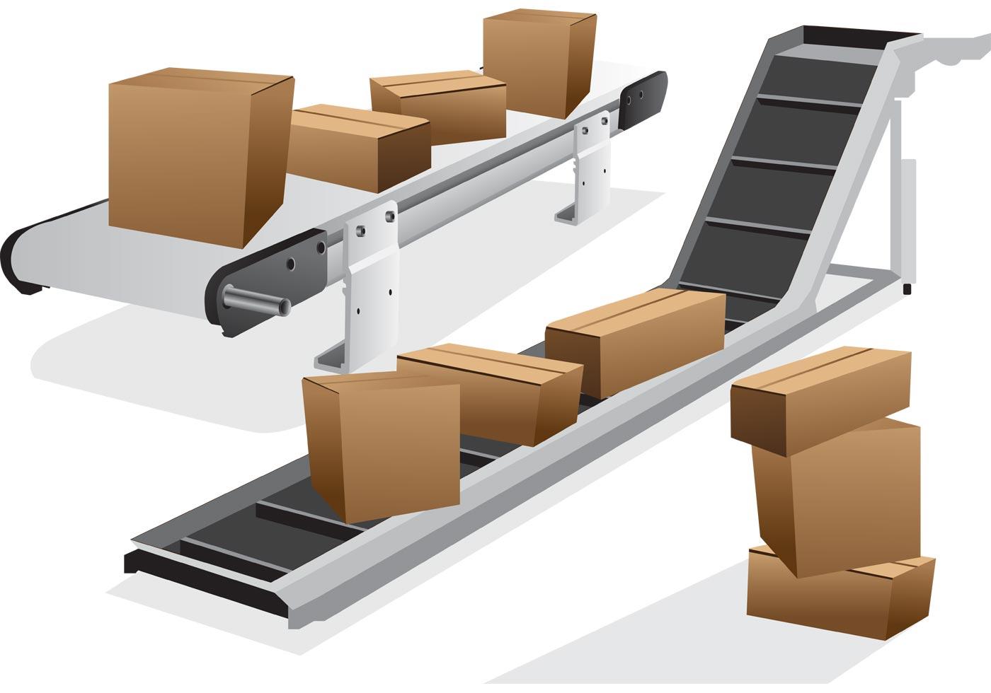 Конвейер для склада и производства