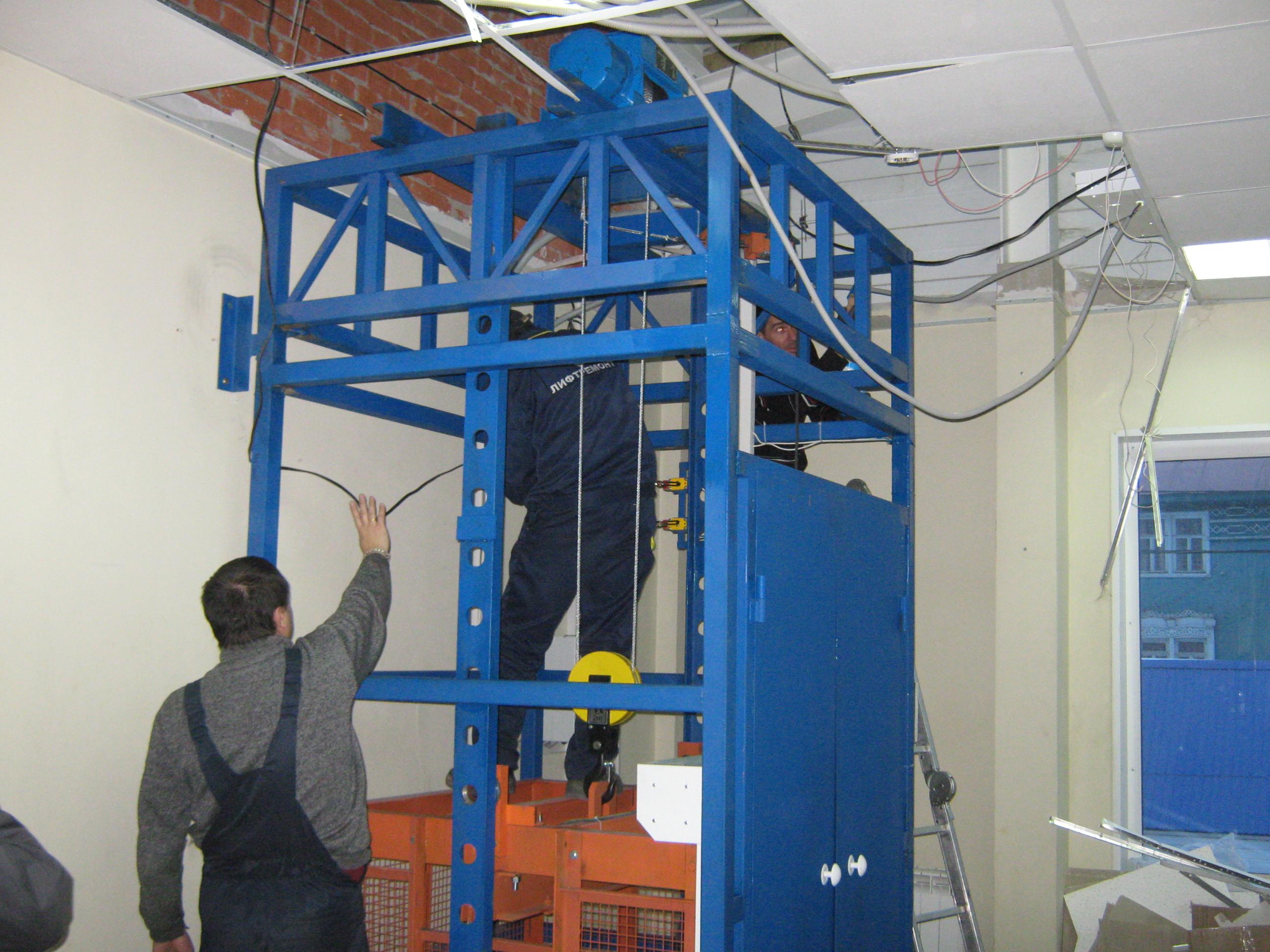 Техническое обслуживание шахтного подъемника
