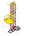 Строительный грузовой подъемник ПМГ г/п 500-1000кг