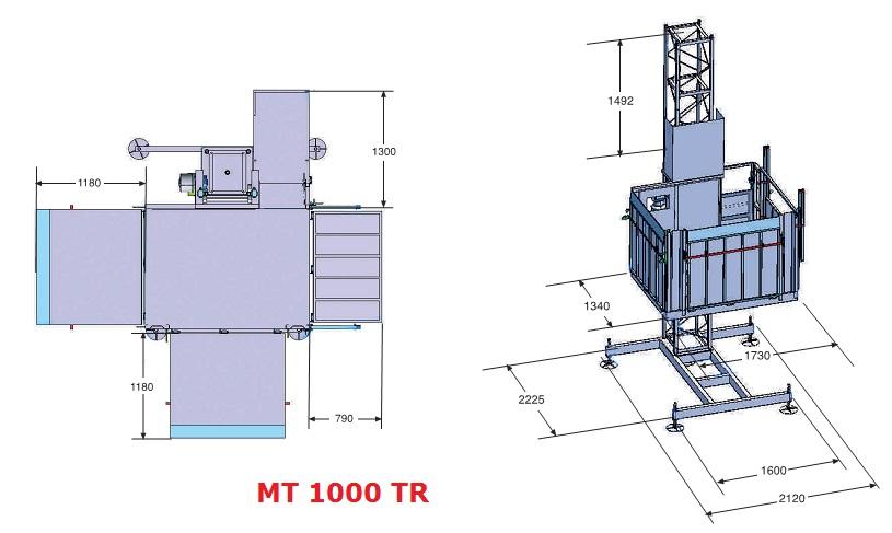 Грузовой подъемник МТ 1000 ТR