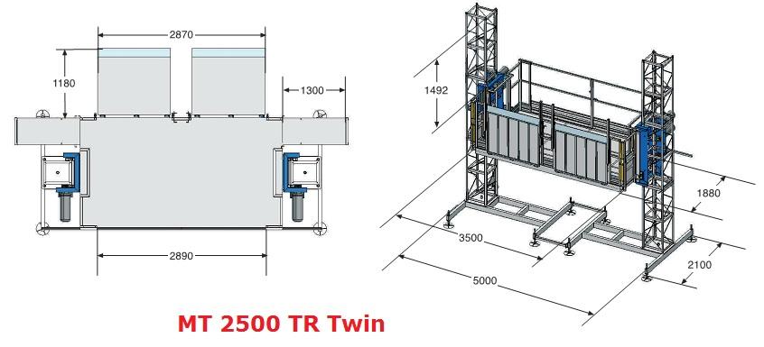 Грузовой подъемник МТ 2500 ТR Twin