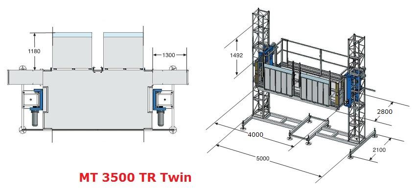 Грузовой подъемник MT 3500 TR Twin