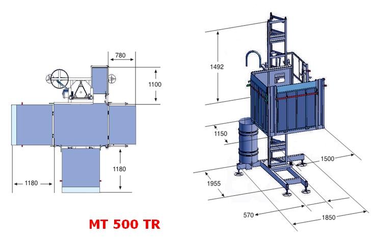 Итальянский грузовой подъемник МТ 500 ТR