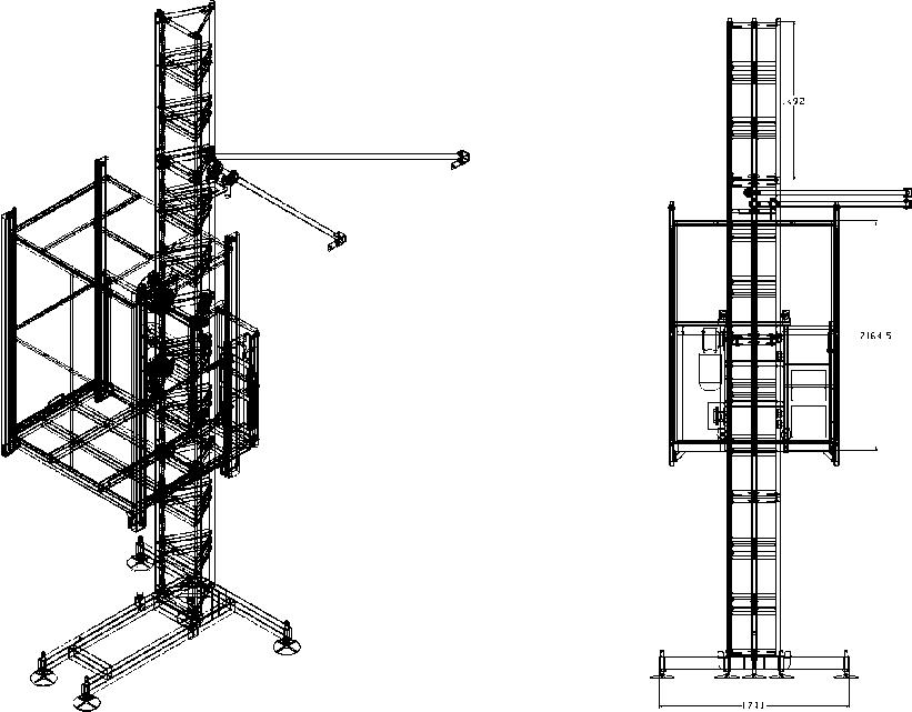 Грузопассажирский подъемник MT 1000 E