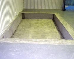 Подготовка фундамента для установки подъемника
