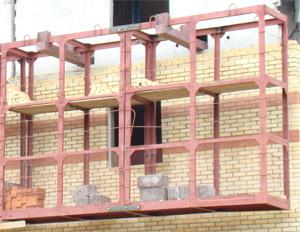 Склад-пирамида для складирования панелей стен и перегородок, Бункера.