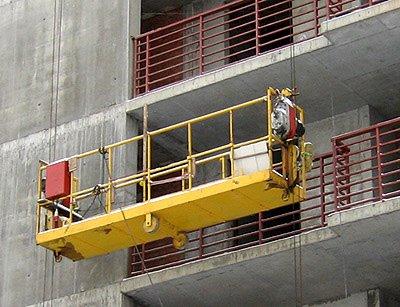 Фасадный подъемник и использование грузоподъемности