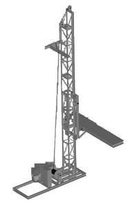 Подъемник мачтовый строительный