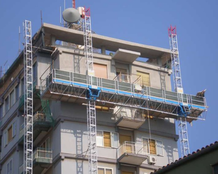 рабочая фасадная платформа