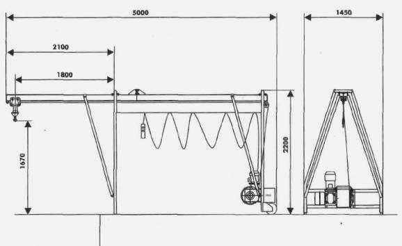 Схема: Кран в окно - КБК5